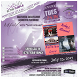 LiveLifeInThePURPLE Show with MLuV 07-25-2017 Guest : Playwrights Ruby J. Manuel and Felicitee Love