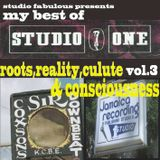 studio fabulous presents my best of studio one vol.3 roots reality culture & consciousness
