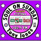 Soul On Sunday Show 10/02/19, Tony Jones on MônFM Radio * S U P E R B * S O U L * S O U N D S *