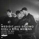 WEDIDIT avec Shlohmo, D33J & NickMelons - 26 Mai 2016