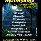 ॐ Moonshine-Goa live_Dj. FL3Xtronics @ Downi Club CH; Worblaufen 1.9.13_11:00-13:00 Lunch Mix