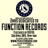 Dj Lighta's Jungle Show. FUNCTION RECORDS SPECIAL. 03.04.2015 Part 1