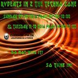 RvBeats In 2 The Techno Zone CuebaseFM Episode Sunday 09 & Tuesday 11-10-2016
