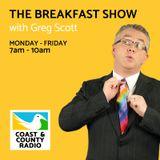 The Breakfast Show with Greg Scott - Broadcast 12/01/18