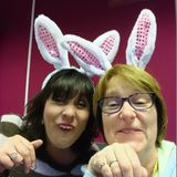Easter-Good Friday requests on the Pulse Hospital Radio. Sarah and Kate in rabbit ears!