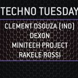 Clement Dsouza Live at What is on your mind -Techno Tuesday Amsterdam - 01.09.2015