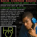 BACK CORNER RADIO: Episode #141 (Nov 20th 2014)