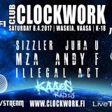 Club Clockwork 8.4.17. Vaasa - Dj's JuhaU & Sizzler