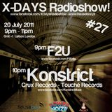 F2U Live Dj Set - X-DAYS Radioshow! #27