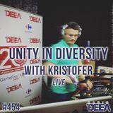 Kristofer - Unity in Diversity 454 (live) @ Radio DEEA (23-09-2017)
