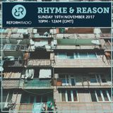 Rhyme & Reason 19th November 2017