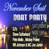 Mickey Power's Live DJ Set Recorded At November Sail Boat Party .(15/11/14)