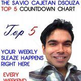 The Savio Cajetan DSouza Top 5 Chart - Week Ending 12 October 2012