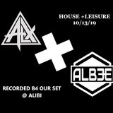 ALX B2B ALBEE RECORDED B4 OUR SET FOR HOUSE + LEISURE
