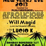 AFROLICIOUS - DJ & DRUMS AT ELBO ROOM - 12-20-12 SEñOR OZ = DJ, BABA DURU, QIQUE, SERGIO  PERCUSSION