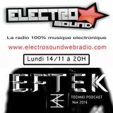 EFTEK Podcast Electrosoundwebradio (Lille)_NOV 2016