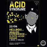 Analog Experience Records LIVE @ ACID SYNDROME 06-22-18 @ ZODIAK CLUB, Brussels