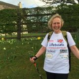 Pat Smith, aka Action Nan, who is walking the coast path around Cornwall in aid of the RNLI