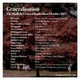 Generalisation Radio Show - October 2017