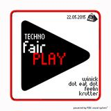 Winick - 22/05/15 Techno Fair Play @ 16 tons