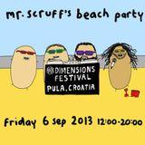 Mr Scruff, Floating Points, Tom Smith & MC Kwasi on the Dub Smugglers Sound System, Dimensions 2013