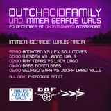 Judah Darenville B2B Georgio Weis closing set Immer Gerade Waus area @ Dutch Acid Family. 201214