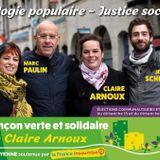 Interview de Claire Arnoux, Besançon Verte et Solidaire, sur la présentation de sa liste