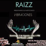 """Invitación a la presentación del disco """"Vibraciones"""" del grupo Raizz en Centro Cultural Santa Cruz"""