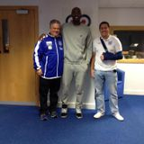 Cheshire Phoenix's Coach Coffino and former NBA forward/ new signing Julius Hodge on Dee Sport