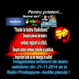 Inregistrarea emisiunii de la Radioprodiaspora din data de  21 -11 -2014 - teatru radiofonic ...