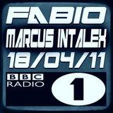 MARCUS INTALEX WITH FABIO @ BBC RADIO 1 - 18/04/11