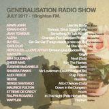 Generalisation Radio Show - July 2017