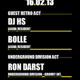 """Ron Darst """"Only Retro @ Back2 !"""" 16/02/13 - 1am till 3.30am."""
