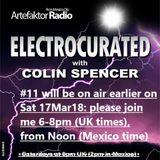 Electrocurated #11 ArtefaktorRadio.com 6-8pm Sat 17Mar18