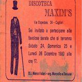 1983 - Discoteca MAXIM'S [Cagliari] (dj Marco Valeri) (pt2)