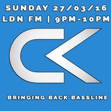 Carl Kendrick - LDN FM - Sun 27/02/16 (9pm-10pm) - Bringing Back the Bassline