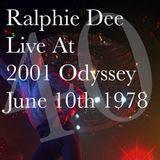 RALPHIE DEE LIVE AT 2001 ODYSSEY BROOKLYN NEW YORK  JUNE 10TH 1978