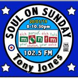Soul On Sunday Show 20/01/19, Tony Jones on MônFM Radio * R A R E * D I A M O N D S *