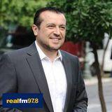 Ο Υπ. Επικρατείας κ. Νίκος Παππάς στο Ραδιόφωνο του REAL FM με τον Νίκο Χατζηνικολάου.