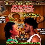 DA REAL STORM, DON YUTE AND SOLGIE ROKCSTONE CONVERSES WITH DJ JAMMY ON ZIONHIGHNESS RADIO 032714