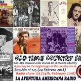 125- Old Time Country Shots (24 Febrero 2018)