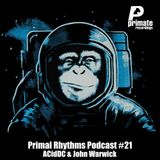 Primate Recordings presents PRIMAL RHYTHMS Edition 21, featuring ACidDC & John Warwick