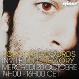 Pop Corn Records Invite DJ Gregory - 28 Octobre 2015