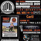 Carii calls in to Da Maddhouze on KPOO 89.5 FM