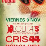 Lolita´s ELECTRODEEPHOUSEGIRLS @ PACHA - Radio Show @ Ibiza Sonica - Cris 44 & Mónica Mira - 9Nov 12