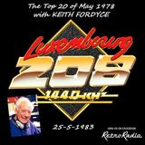 RADIO LUXEMBOURG - Top 20 of May 1978 - Keith Fordyce - 23-5-1983