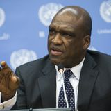UN General Assembly President John Ashe  talks abt #Syrilanka SouthSudan Nigeria & Syria