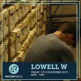 Lowell W 13th November 2015