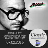 ▶ ZAGGIA ◀ RADIO CANALE ITALIA - CLASSIC Radio Show - 07.02.16 FREE DOWNLOAD
