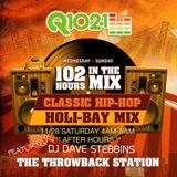 Q102.1 fm mix in the Holi-Bay weekend